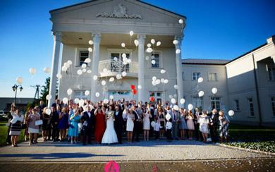 Biały pałac w Niesięcinie.