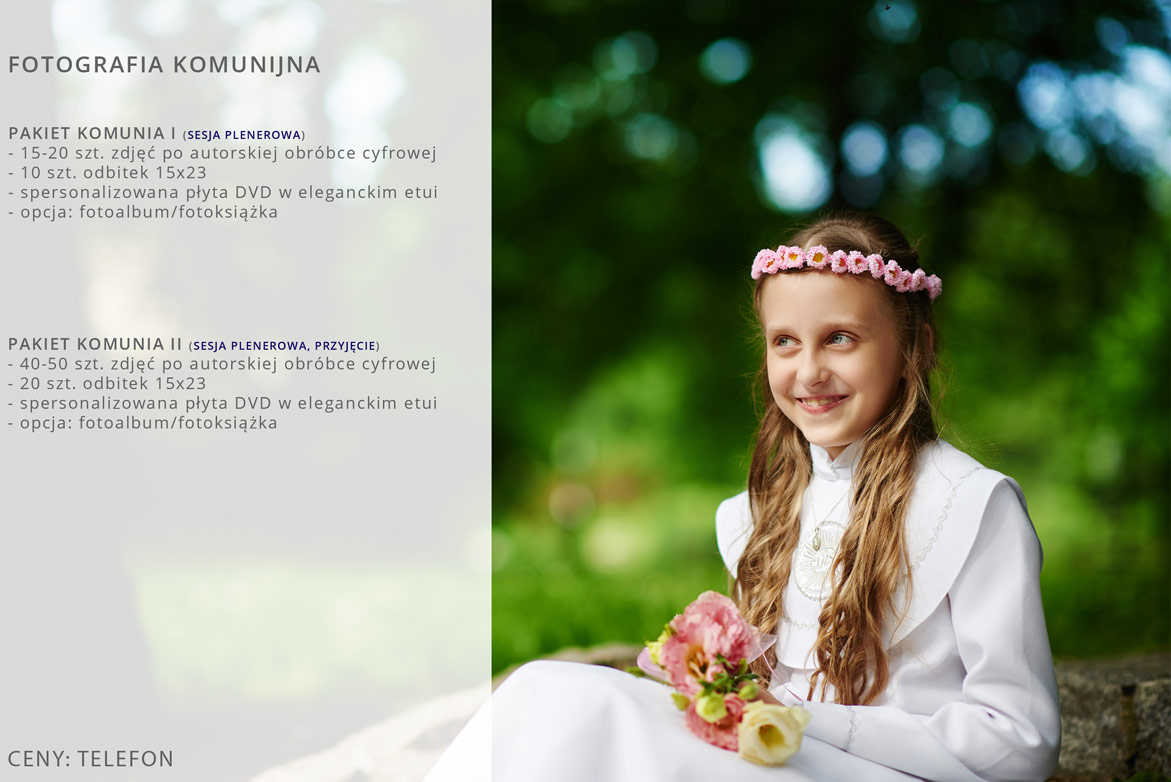 Oferta fotografii komunijnej.