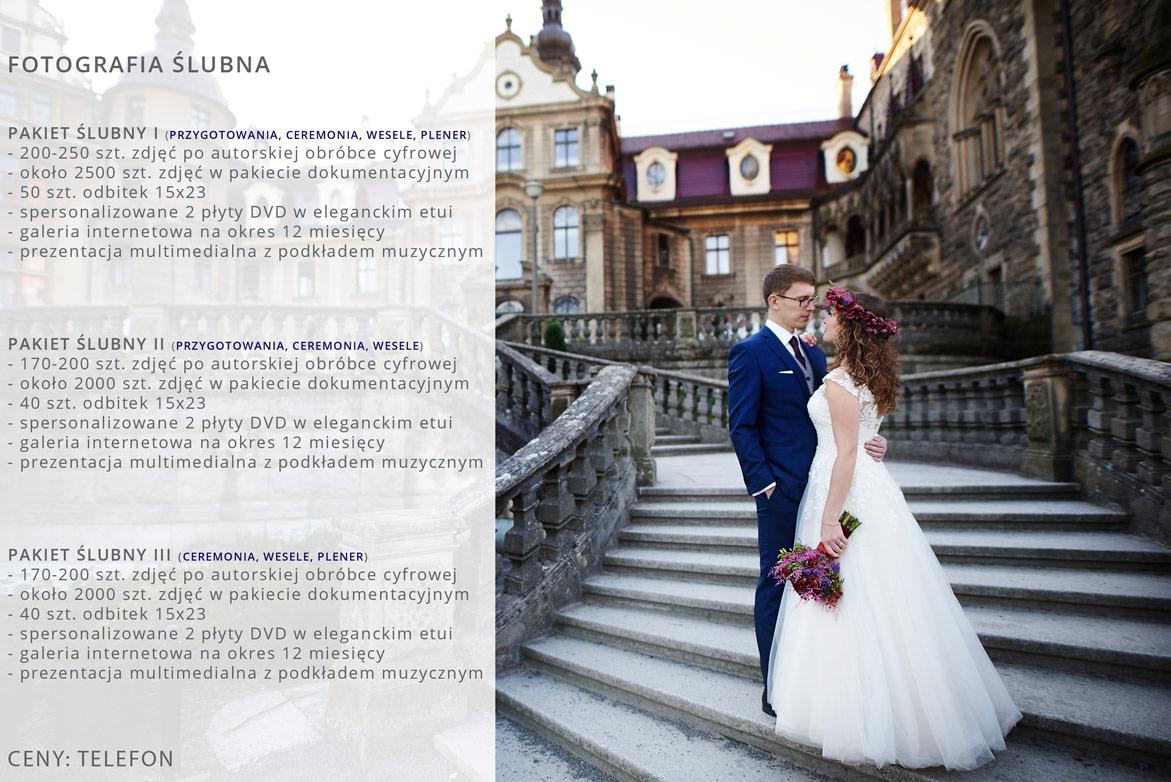Oferta fotografi ślubnej.