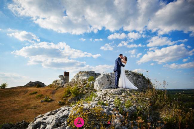 Para młoda na zamku w Olsztynie.
