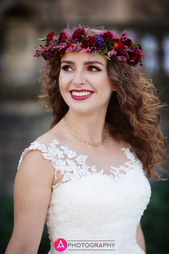 Wianek Pani młodej na plener ślubny.