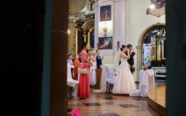 Ślub w Sanktuarium w Łagiewnikach.