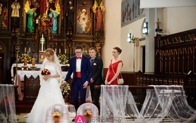Ślub kościelny w Zgierzu.