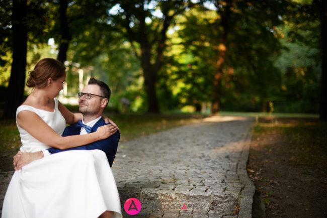 Zdjęcia ślubne w Parku Źródliska.